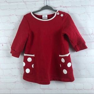 Hanna Andersson Red Dress 6-12 Months /70 cm